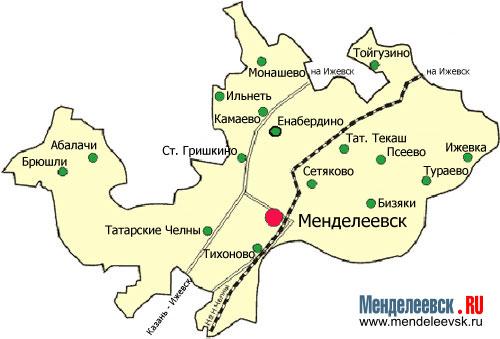 Где находится менделеевский